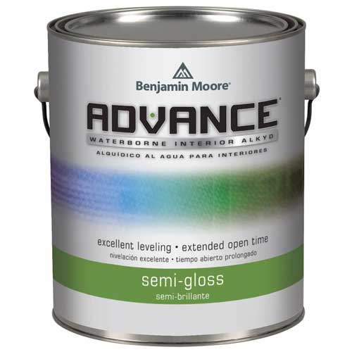 Benjamin Moore Advance Waterborn Interior Alkyd Paint - Semi Gloss (3.726 Litres)