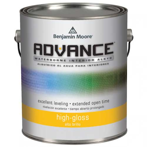 Benjamin Moore: Advance Waterborn Interior Alkyd Paint - High Gloss (3.726 Litres)