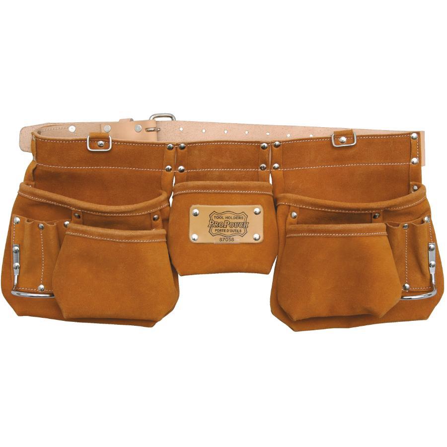 Propouch 12 Pocket Split Leather Carpenters Waist Apron