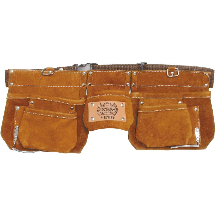 Propouch 11 Pocket Suede Leather Carpenters Waist Apron