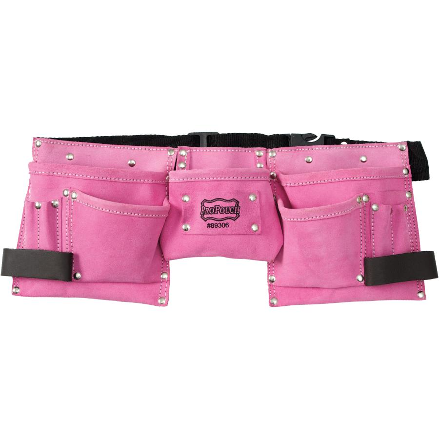 Propouch 11 Pocket Pink Small Leather Carpenters Waist Apron