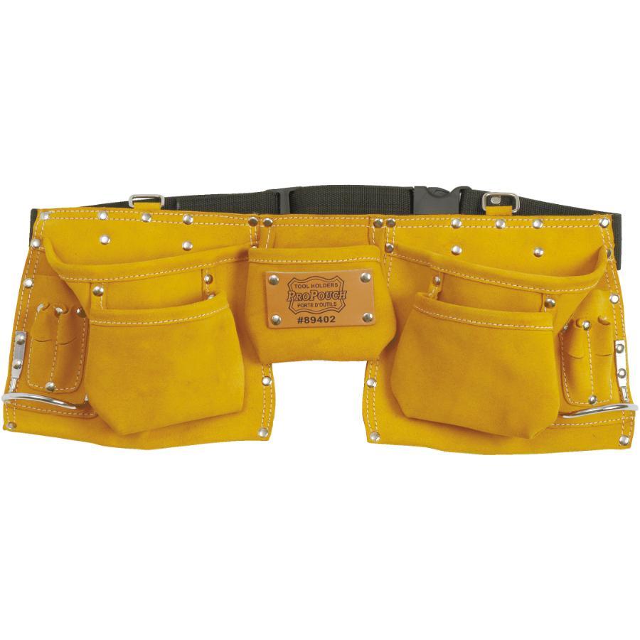Propouch: 11 Pocket Leather Carpenters Waist Apron