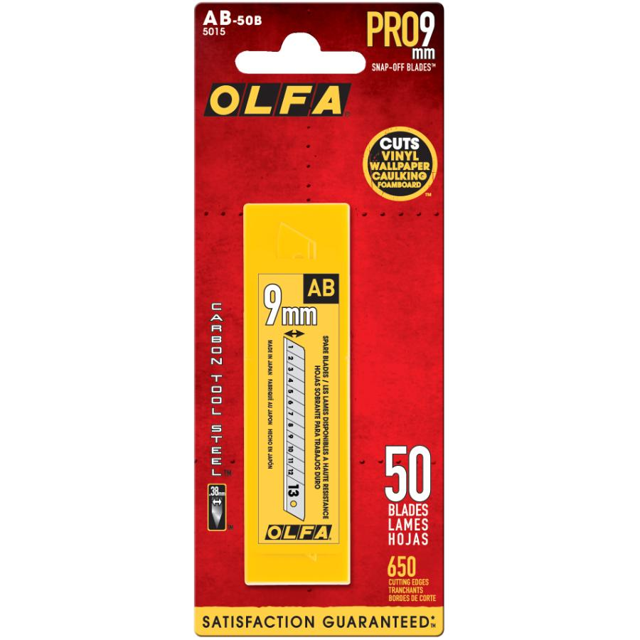 Olfa 50 Pack 9mm Standard SnapOff Utility Blades