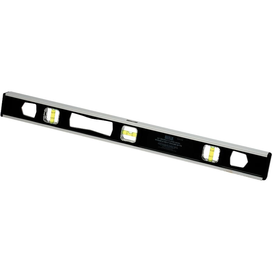 "Benchmark 24"" 3 Vials Magnetic Black I Beam Level"