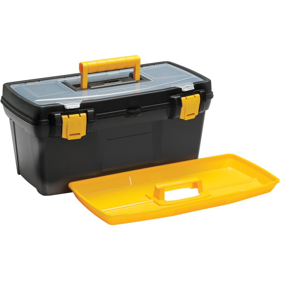 "Home Handyman 19.1"" x 10.3"" x 8.9"" Tool Box, with Plastic Tray"