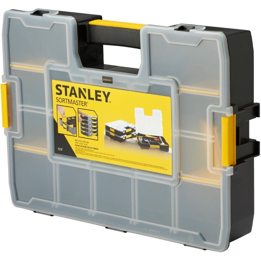 """Stanley: 16.8"""" x 13"""" x 3.4"""" Adjustable Sortmaster Part Organizer"""