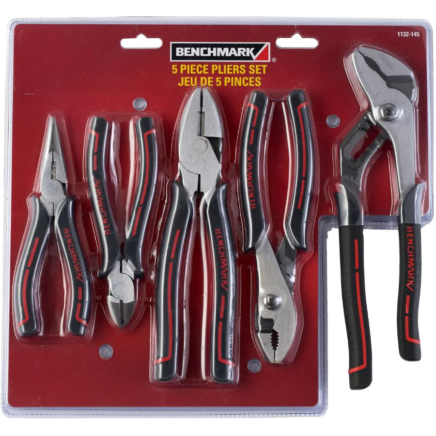 Benchmark: 5 Piece High Leverage Pliers Set