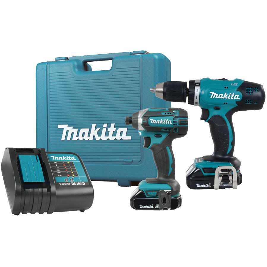 Makita 2 Tools 18 Volt Lithium-ion Cordless Combo Kit