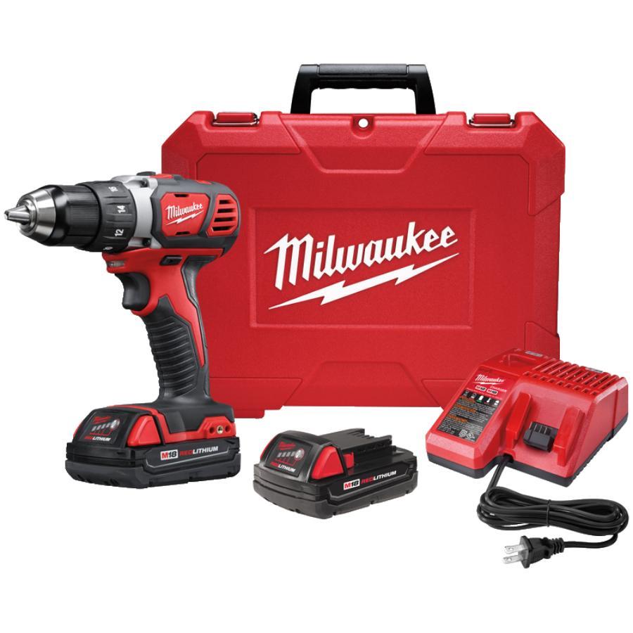 """Milwaukee 1/2"""" 18 Volt Lithium-ion Cordless Drill Kit"""
