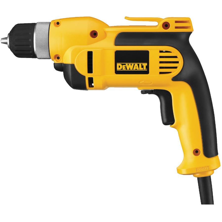 """Dewalt 3/8"""" 8 Amp Variable Speed Reversing Corded Drill Kit"""