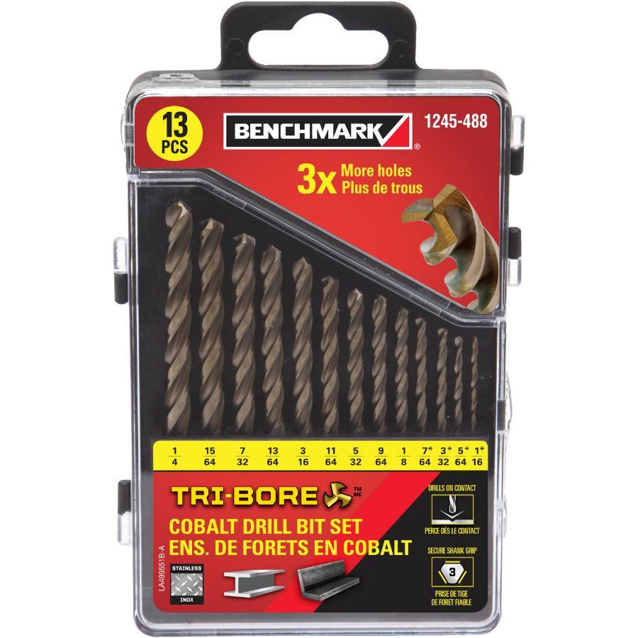 Benchmark 13 Piece Tri-bore Cobalt Drill Bit Set