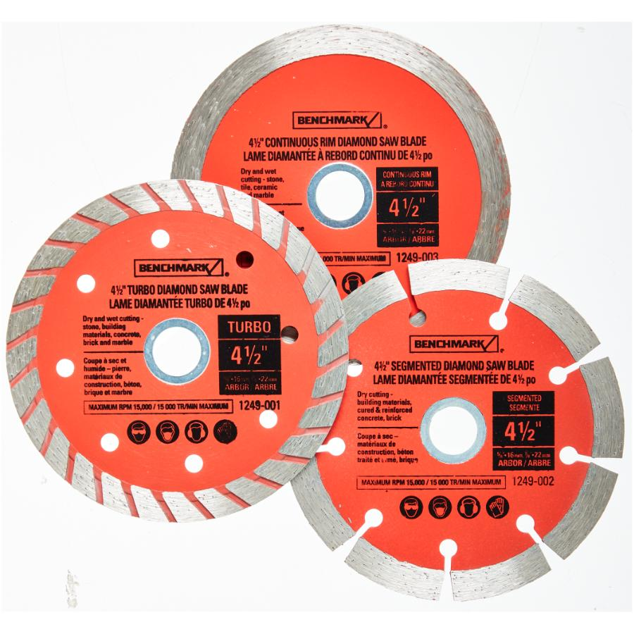 "Benchmark 4.5"" Diamond Assorted Blades Set - 3 Piece"