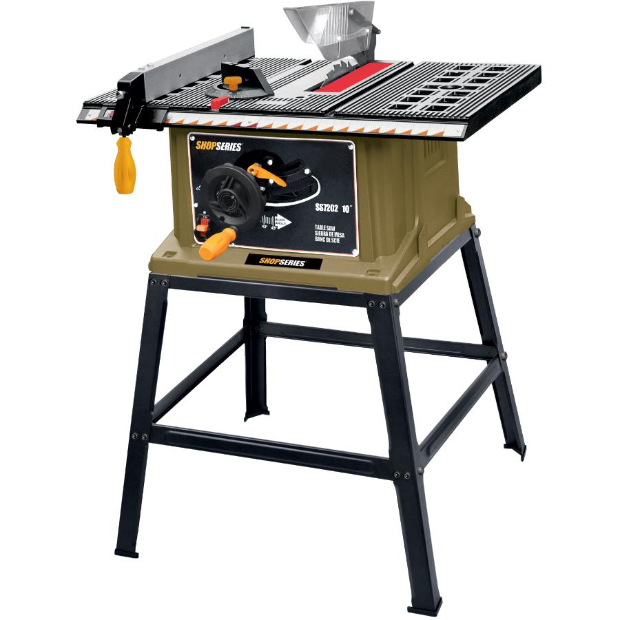 """Shop Series 10"""" 15 Amp Table Saw, with Stand"""
