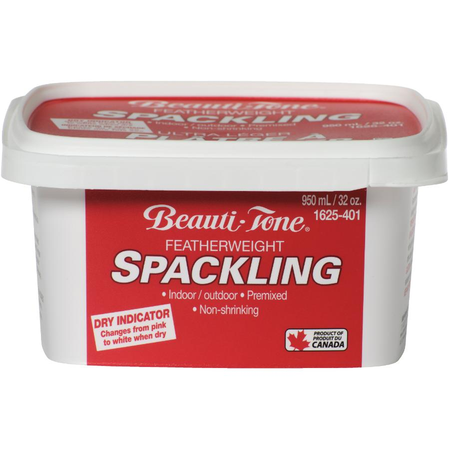 BEAUTI-TONE 950mL Spackling Wall Compound, with Pink to White Dry Indicator