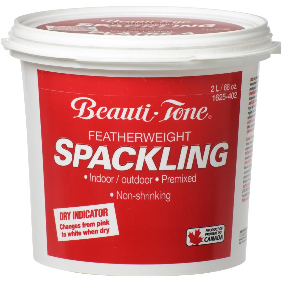 BEAUTI-TONE 2L Spackling Wall Compound, with Pink to White Dry Indicator
