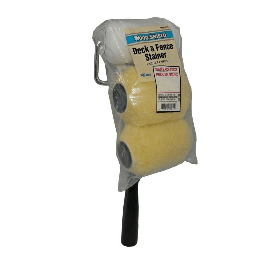 Wood Shield 100mm Deck Paint Roller, with 2 Refills