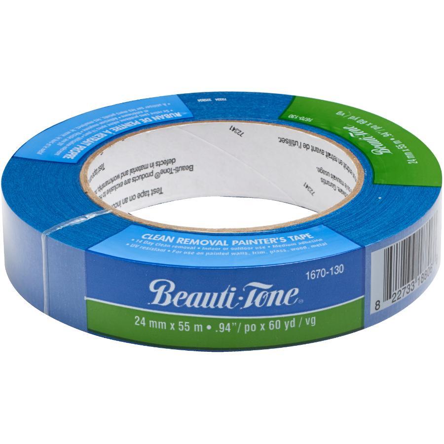 Beauti-tone: 24mm x 55m Blue Painter's Tape