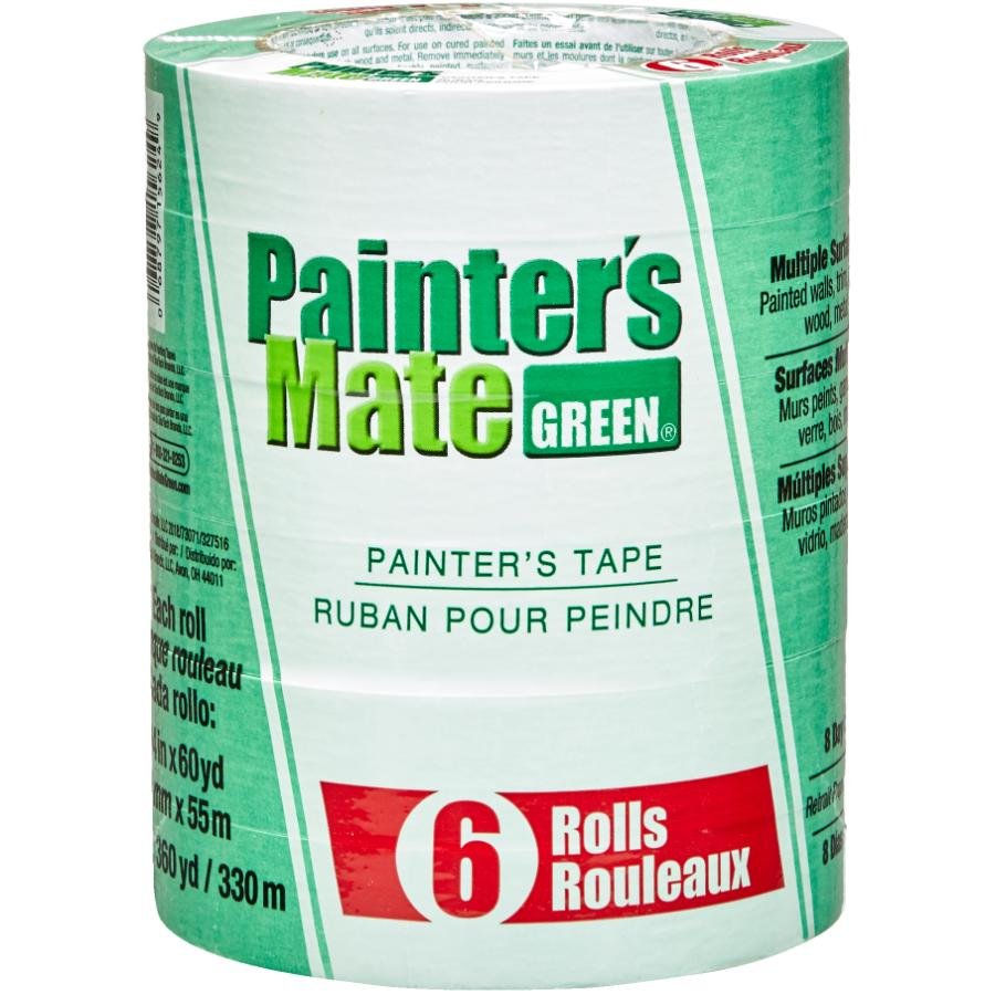 Painter's Mate Green Painter's Masking Tape - 24 mm x 55 m, 6 Pack