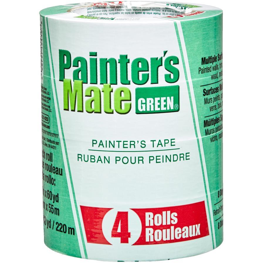Painter's Mate Green Painter's Masking Tape - 36 mm x 55 m, 4 Pack