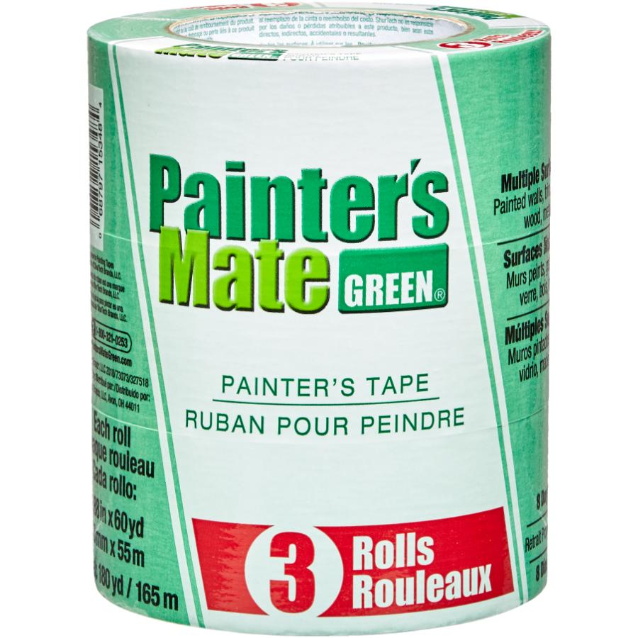 Painter's Mate Green Painter's Masking Tape - 48 mm x 55 m, 3 Pack