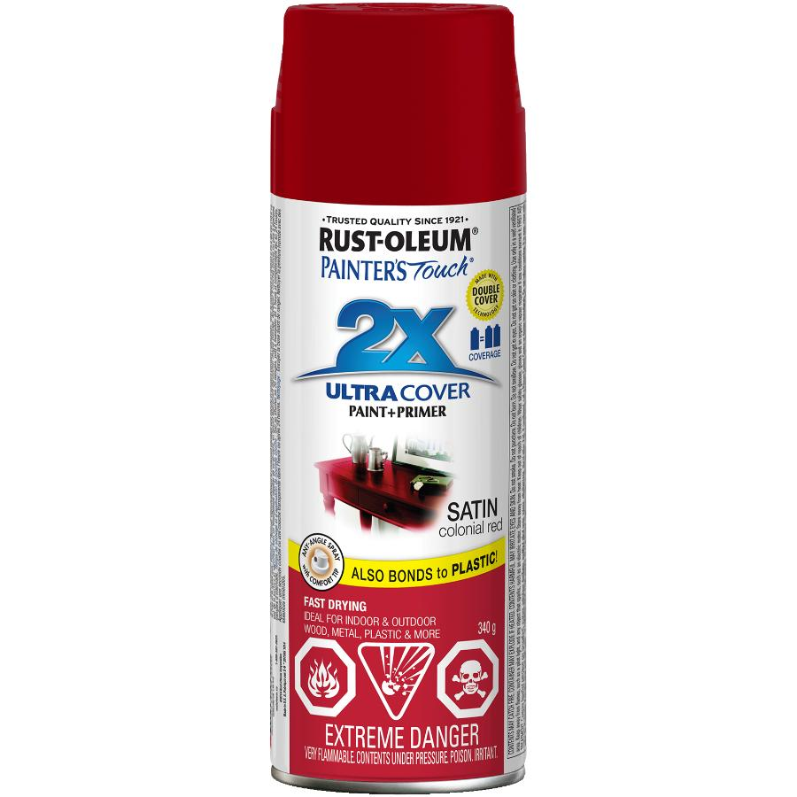 Rust-oleum 340g Painters Touch 2X Satin Colonial Red Alkyd Paint