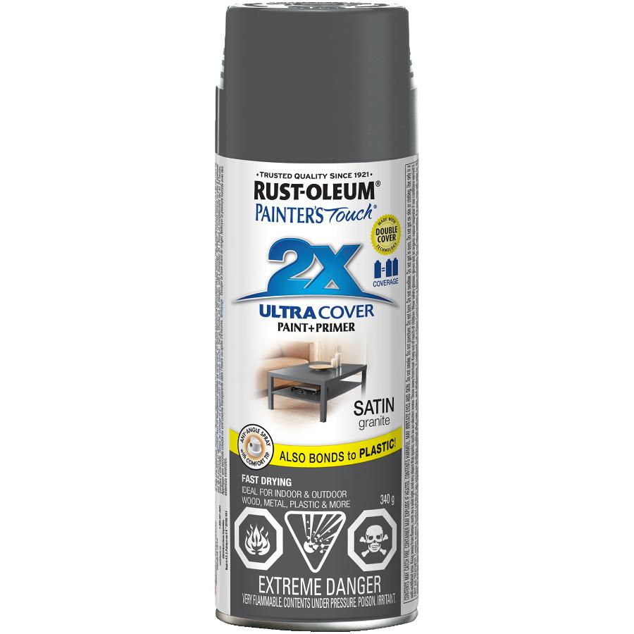 Rust-oleum 340g Painters Touch 2X Satin Granite Alkyd Paint