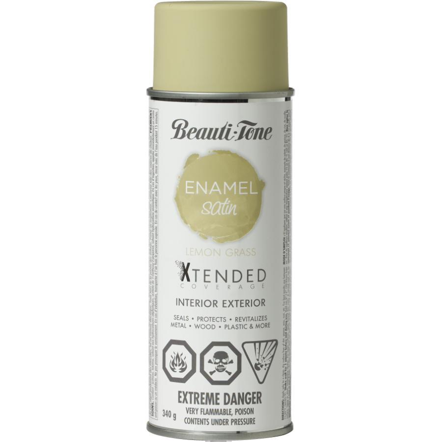 Beauti-tone: 340g Interior/Exterior Lemon Grass Satin Solvent Paint