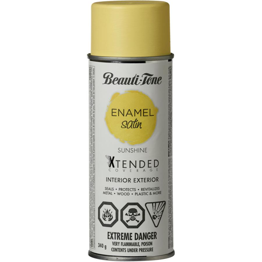 BEAUTI-TONE 340g Interior/Exterior Sunshine Satin Solvent Paint