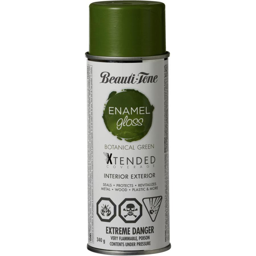 Beauti-tone: 340g Interior/Exterior Botanical Green High Gloss Solvent Paint