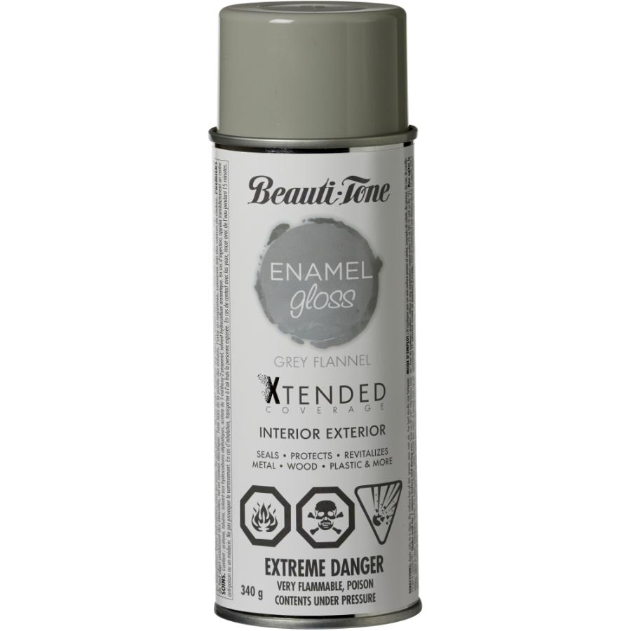 Beauti-tone 340g Interior/Exterior Grey Flannel High Gloss Solvent Paint