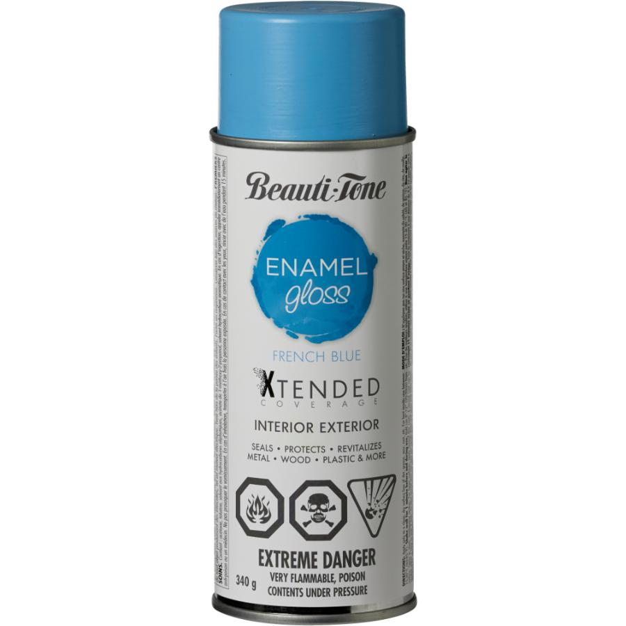 Beauti-tone: 340g Interior/Exterior French Blue High Gloss Solvent Paint