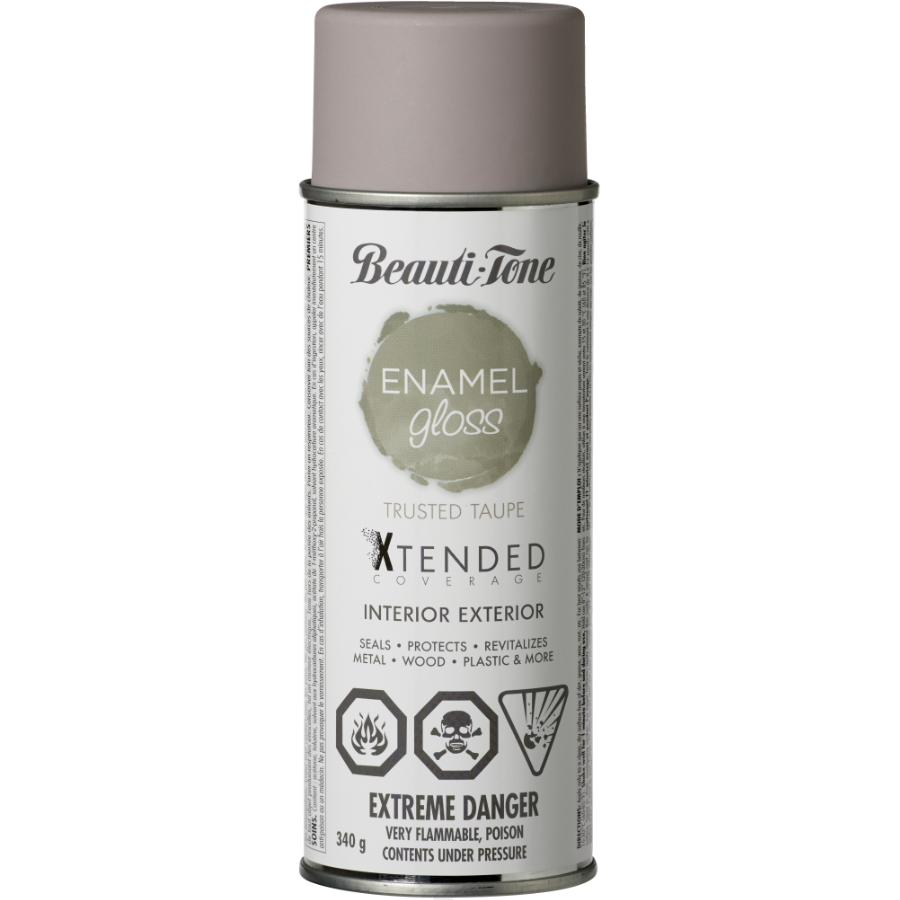 Beauti-tone: 340g Interior/Exterior Trusted Taupe High Gloss Solvent Paint