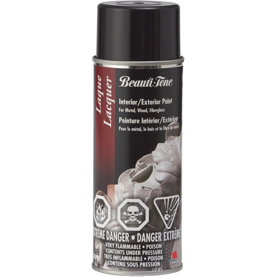 Beautitone Lacquer Spray Paint - Gloss Black, 340 g