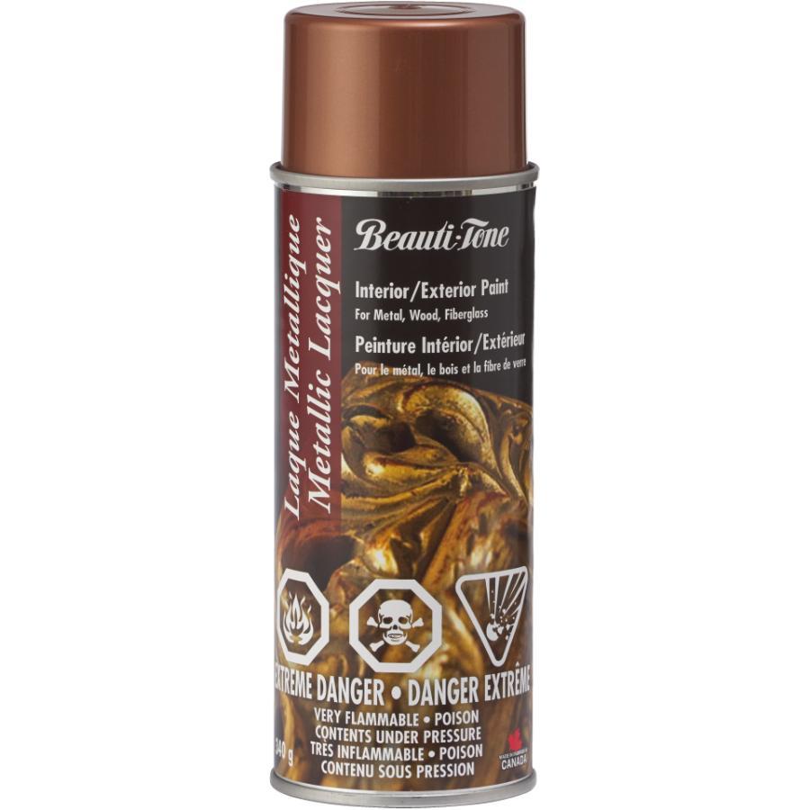 Beautitone: Metallic Lacquer Spray Paint - Gloss Copper, 340 g