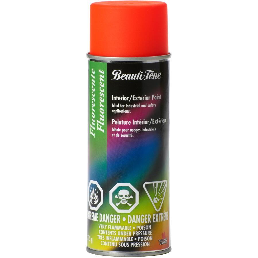 BEAUTI-TONE 315g Fluorescent Jamaica Orange Acrylic Paint