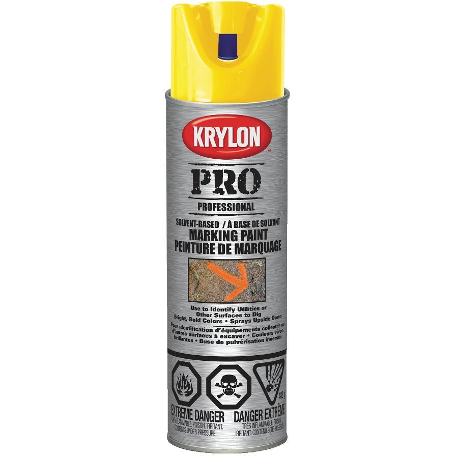 Krylon 482g Yellow Solvent Marking Paint