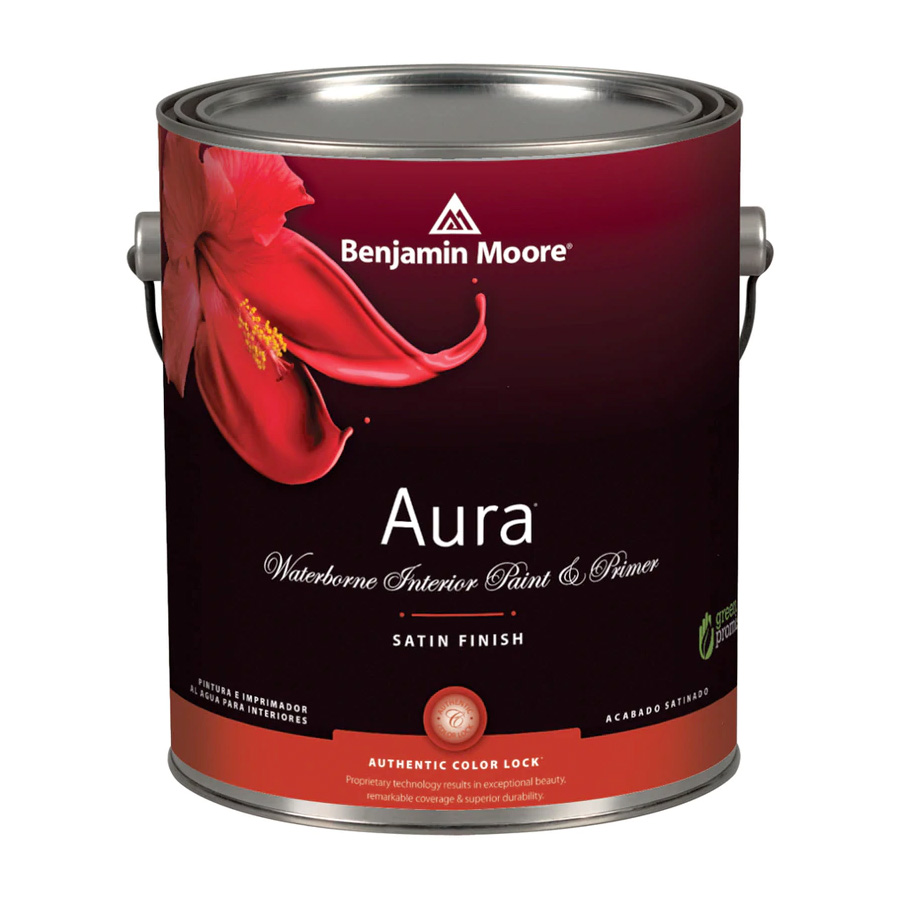 Benjamin Moore Aura Waterborn Interior Paint - Satin Finish