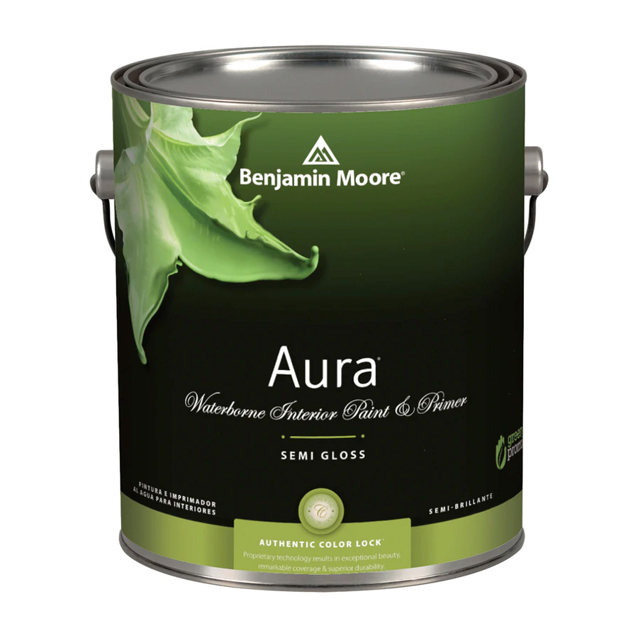 Benjamin Moore Aura Waterborn Interior Paint - Semi Gloss Finish