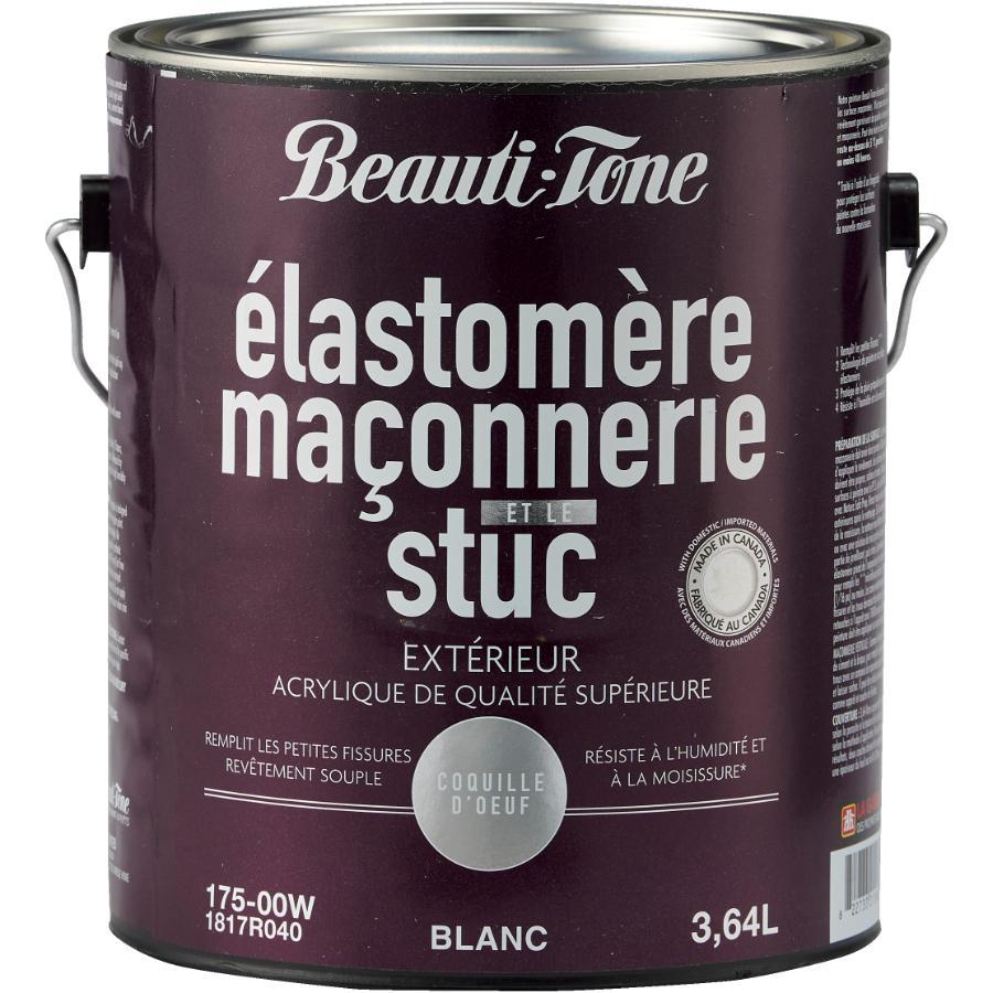 Beauti-tone: 3.64L White Elastomeric Masonry Acrylic Paint