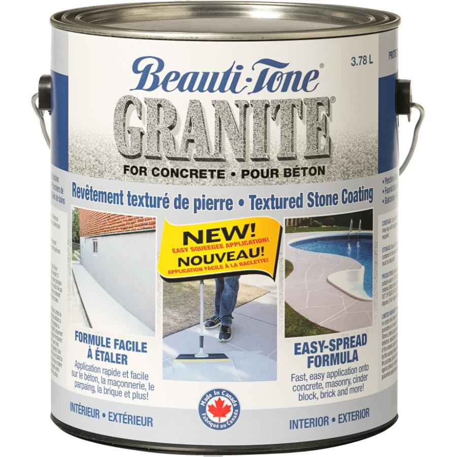 Beauti-tone 3.78L Ice Grey Granite Spread Stone Coating
