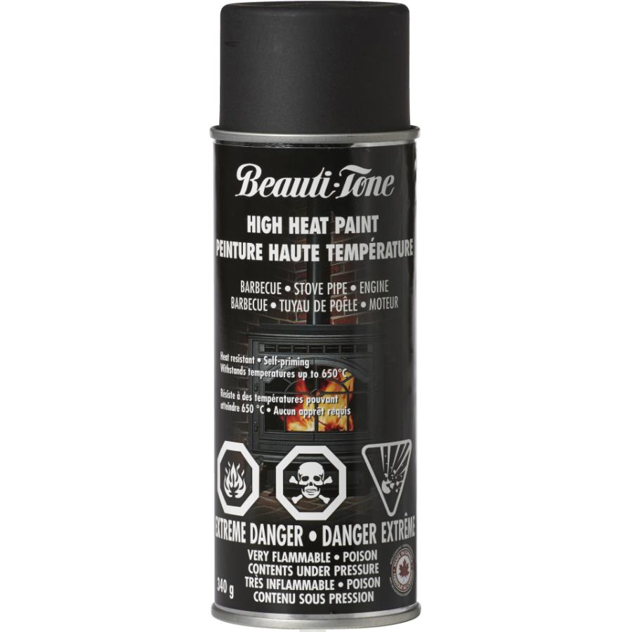 Beauti-tone 340g Black High Heat BBQ Alkyd Paint