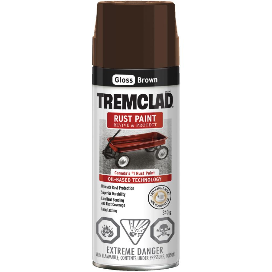 Tremclad 340g Gloss Brown Alkyd Rust Paint