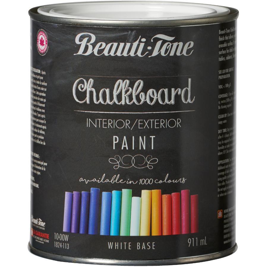 Beautitone Interior / Exterior Chalkboard Paint - White Base, 911 ml