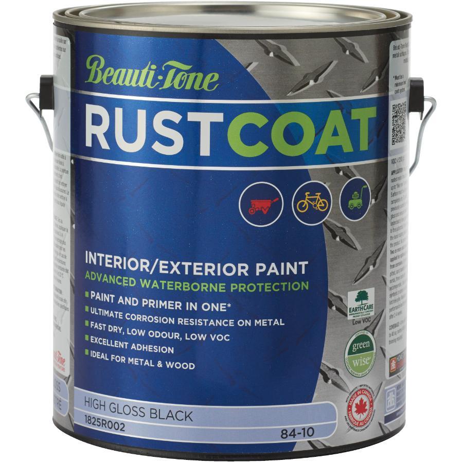 Beauti-tone Rust Coat 3.78L Black Gloss Latex Rust Paint