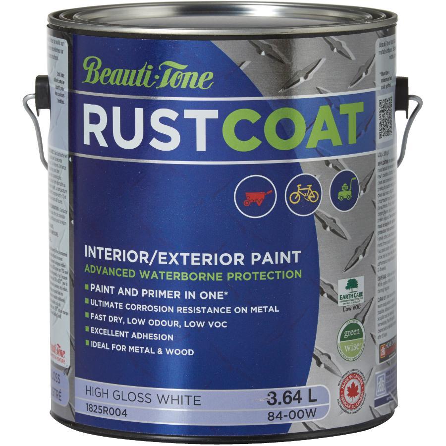 Beauti-tone Rust Coat 3.64L White Gloss Latex Rust Paint