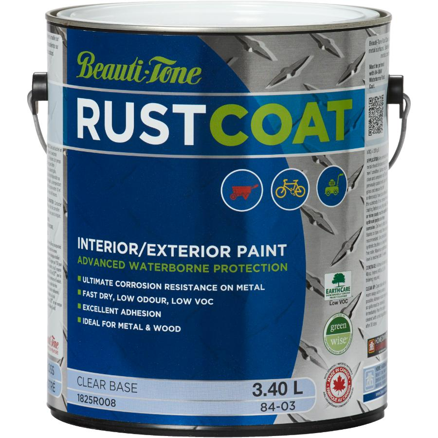 Beauti-tone Rust Coat 3.40L Clear Gloss Latex Rust Paint
