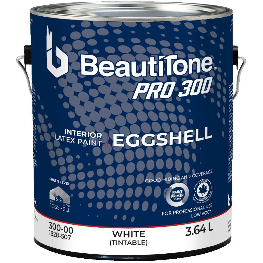 Beauti-tone Professional 3.64L White Base Eggshell Finish Interior Latex Paint