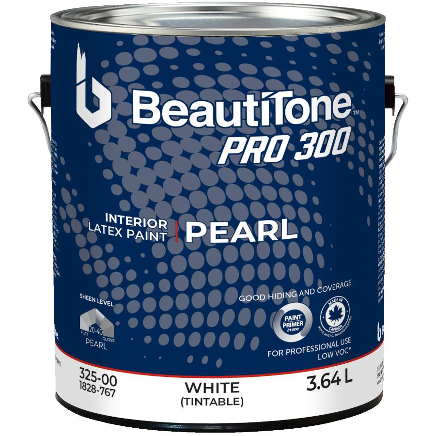 Beauti-tone Professional 3.64L White Base Pearl Finish Interior Latex Paint