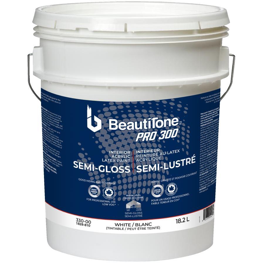 Beauti-tone Professional 18.2L PRO 300 White Base Semi Gloss Interior Latex Paint