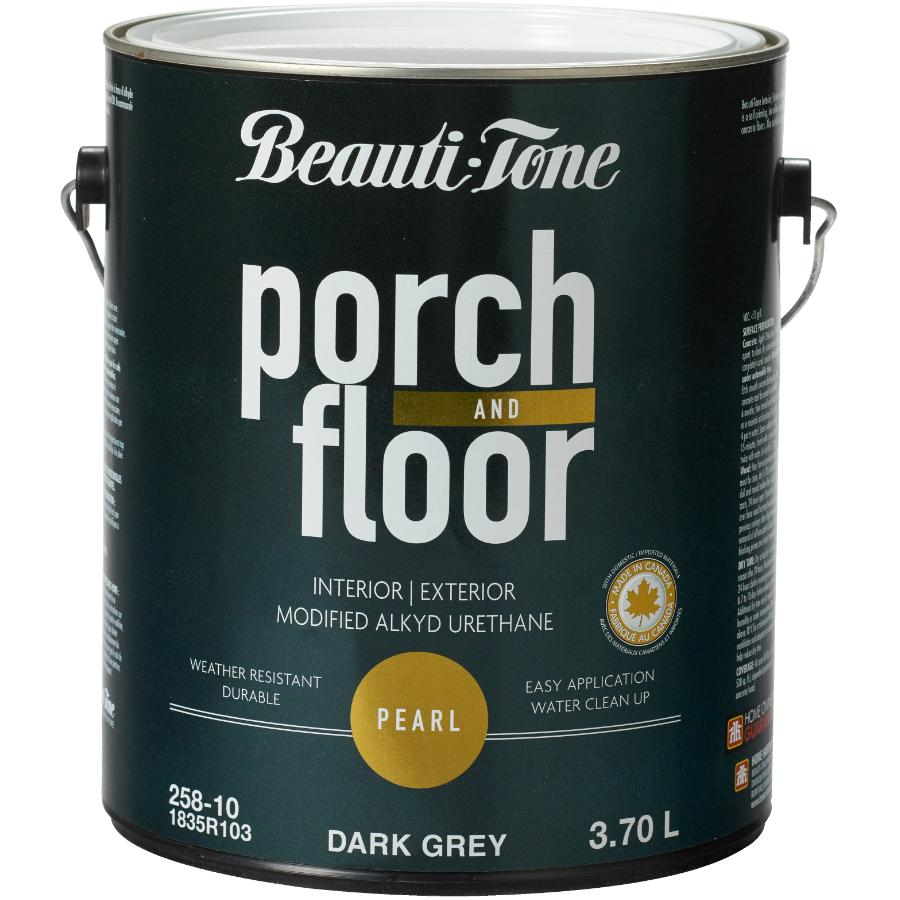 Beauti-tone 3.7L Dark Grey Alkyd Acrylic Porch and Floor Paint